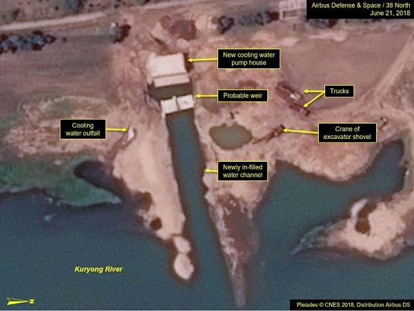 ác thay đổi ở hệ thống làm lạnh lò phản ứng sản xuất plutonium 5MWe có vẻ đã hoàn tất