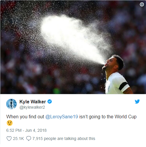 Walker biết Sane bị loại khỏi W.C