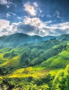 Sa Pa, Việt Nam: Thị trấn miền núi tuyệt đẹp này nổi tiếng với những ruộng bậc thang của thung lũng Mường Hoa.