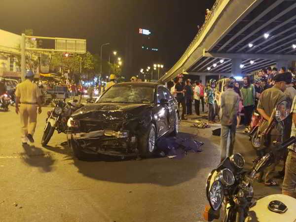 Hiện trường vụ tai nạn do tài xế say xỉn gây ra