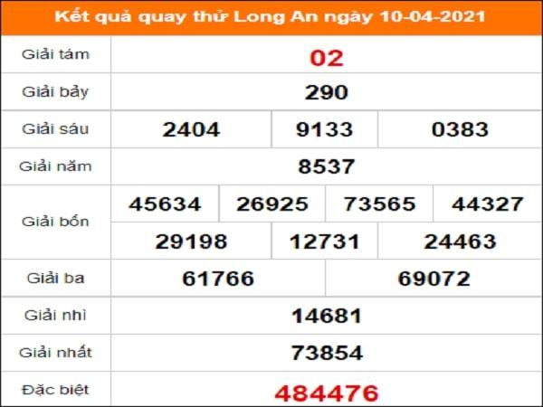 Quay thử Long An ngày 10/4/2021 thứ 7