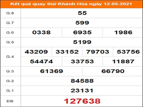 Quay thử xổ số Khánh Hòa ngày 12/5/2021