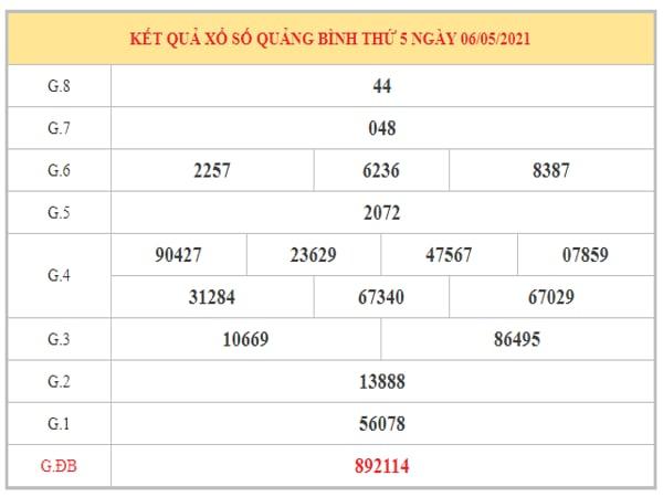 Nhận định KQXSQB ngày 13/5/2021 dựa trên kết quả kì trước